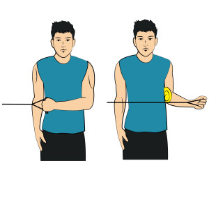 Arm To Side - External Rotation With Band - Left Arm