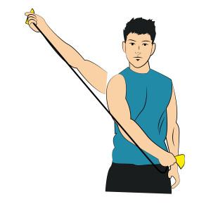 Band Shoulder Diagonal Flexion - Right arm