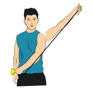 Band Shoulder Diagonal Flexion - left arm